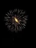 Demostración X de los fuegos artificiales Fotos de archivo