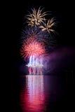 Demostración de los fuegos artificiales Fotos de archivo libres de regalías