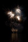 Demostración de los fuegos artificiales Imágenes de archivo libres de regalías