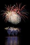 Demostración de los fuegos artificiales Foto de archivo libre de regalías