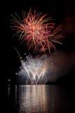 Demostración de los fuegos artificiales Fotografía de archivo