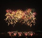 Demostración de los fuegos artificiales Imagen de archivo