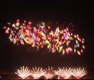 Demostración de los fuegos artificiales Foto de archivo