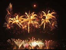 Demostración de los fuegos artificiales Imagen de archivo libre de regalías