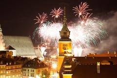 Demostración de los fuegos artificiales en Año Nuevo Imagen de archivo