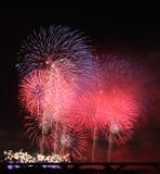 Demostración de los fuegos artificiales en Taiwán Foto de archivo libre de regalías