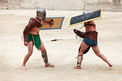 Demostración de los gladiadores Fotografía de archivo libre de regalías