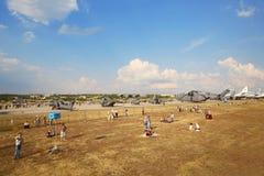 Demostración de los helicópteros MI Imagenes de archivo