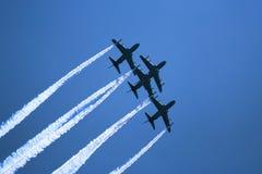 Demostración de los jets de la fuerza Fotografía de archivo libre de regalías