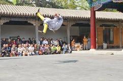 Demostración 4 de los monjes de Shaolin Foto de archivo libre de regalías