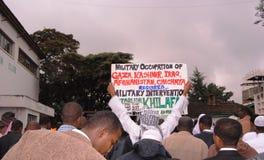 Demostración de los musulmanes África, Nairobi Kenia Imagen de archivo libre de regalías