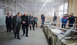 Demostración de los primeros abejones ucranianos de la producción Fotografía de archivo libre de regalías