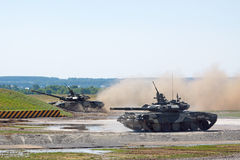 Demostración de los tanques T-90. Fotos de archivo libres de regalías