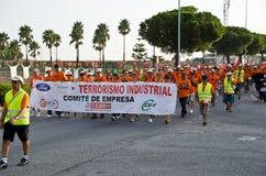 Demostración de los trabajadores de la compañía Visteon Foto de archivo libre de regalías