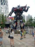 Demostración de los transformadores en Guangzhou Foto de archivo libre de regalías