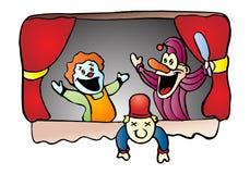 Demostración de marioneta stock de ilustración