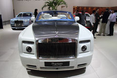 Demostración de motor de Dubai NOVEMBER-14-2011 Rolls Royce Fotografía de archivo