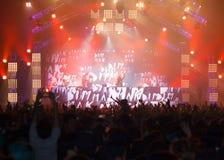 Demostración de STEVE AOKI en 808 el FESTIVAL 2013 imagen de archivo libre de regalías