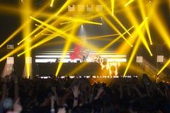 Demostración de STEVE AOKI en 808 el FESTIVAL 2013 imagen de archivo