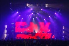 Demostración de STEVE AOKI en 808 el FESTIVAL 2013 foto de archivo libre de regalías