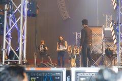 Demostración de STEVE AOKI en 808 el FESTIVAL 2013 foto de archivo