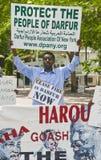 Demostración de Sudán Fotos de archivo