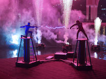Demostración de Tesla en el casino veneciano Imagen de archivo libre de regalías