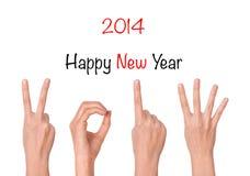 demostración del Año Nuevo 2013 Foto de archivo libre de regalías