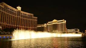 Demostración del agua de Bellagio - Las Vegas almacen de metraje de vídeo