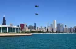 Demostración del aire y del agua de Chicago Imágenes de archivo libres de regalías