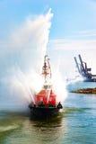 Demostración del barco del fuego Imagen de archivo libre de regalías