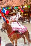 Demostración del caballo en México Fotografía de archivo