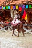 Demostración del caballo en México Foto de archivo