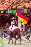 Demostración del caballo en México Imágenes de archivo libres de regalías