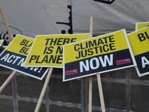 Demostración del cambio de clima de la O.N.U Fotos de archivo