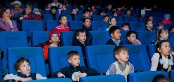 Demostración del cine para los niños Fotografía de archivo libre de regalías