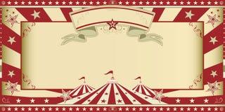 Demostración del circo de la invitación stock de ilustración