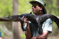 Demostración del cocodrilo Fotos de archivo