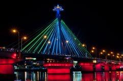 Demostración del color del puente del río de Han Fotografía de archivo