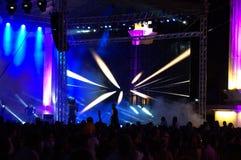 Demostración del concierto de la celebración de la ciudad de Varna Fotografía de archivo