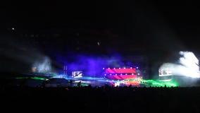 Demostración del concierto y de la luz Fotografía de archivo libre de regalías