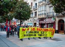 Demostración del día de trabajo en Vitoria-Gasteiz Foto de archivo libre de regalías