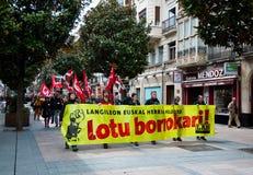 Demostración del día de trabajo en Vitoria-Gasteiz Fotografía de archivo libre de regalías