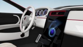 Demostración del diseño de la consola del coche eléctrico ilustración del vector
