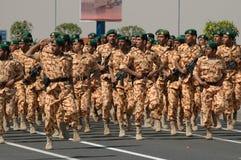 Demostración del ejército de Kuwait Imagen de archivo libre de regalías