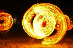 Demostración del fuego Fotos de archivo