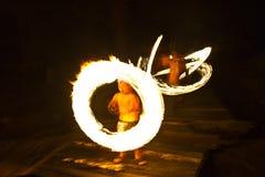 Demostración del fuego en la isla de Kood Fotografía de archivo libre de regalías