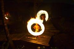 Demostración del fuego en la isla de Kood Foto de archivo libre de regalías