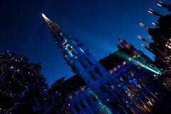 Demostración del laser de la Navidad en el lugar magnífico Foto de archivo