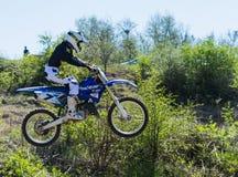 Demostración del motocrós en Bulgaria Fotografía de archivo libre de regalías